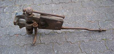 Großer antike Wanderschmiede Schraubstock  Flaschner 11,5cm Backen  50kg