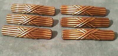 """Vintage OLD KBC Keeler Brass Colonial Drawer FURNITURE Pulls Set 12 N10723 4.25/"""""""