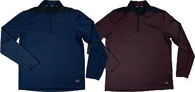 Nike Golf Mens Dri-Fit Core Pull Over Half Zip Shirt Blue/Purple AH5548 New