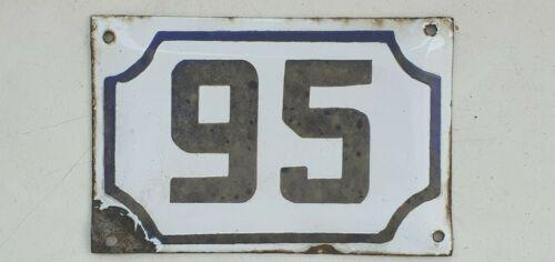 Genuine ISRAELI vintage enamel porcelain house number 95 street House sign # 95