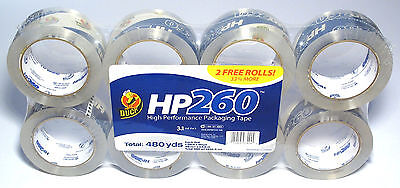 Duck Tape Hp 260 High Performance Packaging Tape 8 Pack - 8 Rolls
