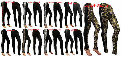 NEW WOMENS LACE SIDE PANEL FULL LENGTH LADIES LEGGING JEGGING SIZE 8 10 12 14 16