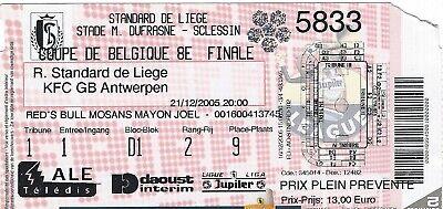 Ticket: Standard - Germinal Beerschot Antwerp Coupe de Belgique (21-12-05)