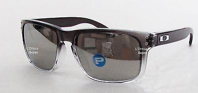 Sonnenbrille OAKLEY MOD. HOLBROOK 9102-A9 DARK Tinte verblassen Objektiv CHROME