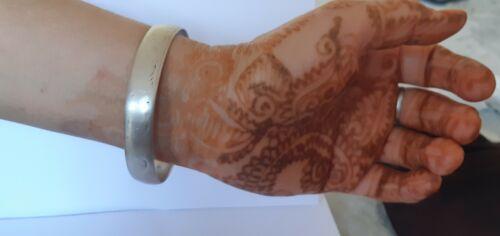 OLD Antique Vintage Moroccan Sterling Silver Jewish Bracelet Bangle ETHNIC JEWEL