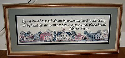 Vintage Home Interior Picture with Scripture Proverbs24:3-4