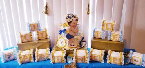 Little Prince Alphabet Baby Block Diaper Cake Baby Shower Centerpiece Gift Set