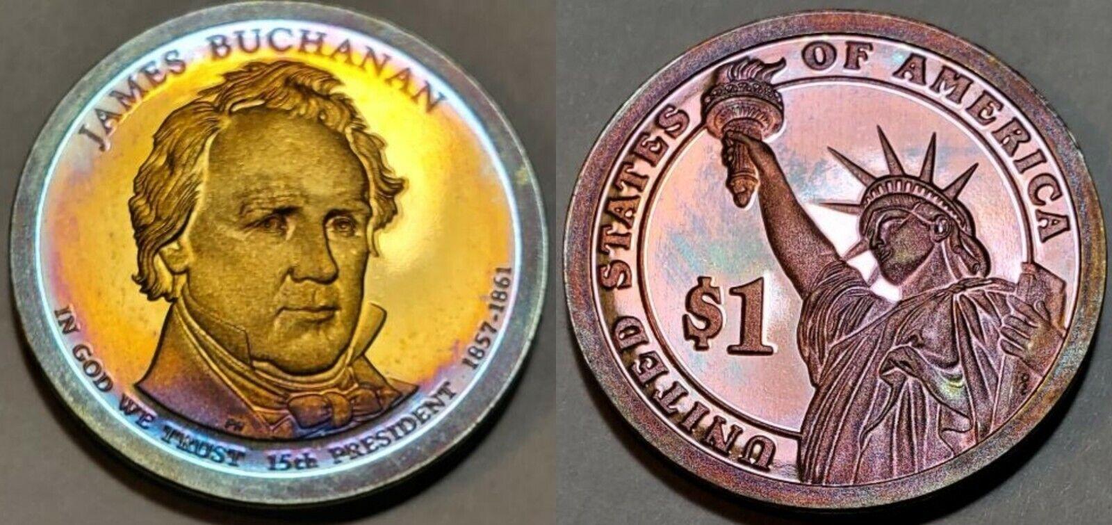 2010 S - PROOF - MONSTER TONED - JAMES BUCHANAN PRESIDENTIAL DOLLAR 10519 - $5.00