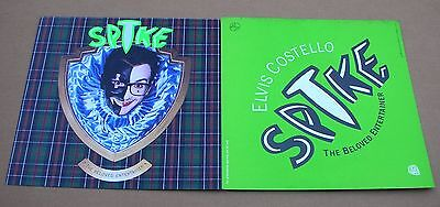 ELVIS COSTELLO Spike 2 Sided Promo 12x12 Poster Flat 1989 Mint-