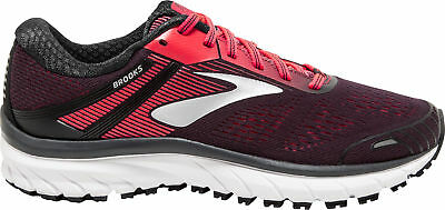 Brooks Adrenaline GTS 18 Womens Running Shoes Black Cushioned Trainers Sneakers
