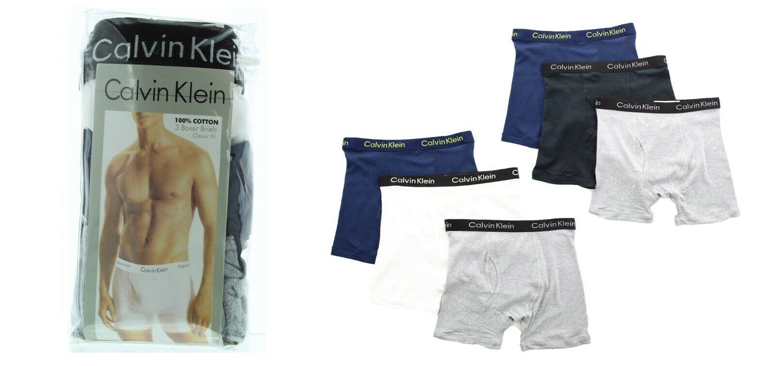 Calvin Klein Boxer Briefs Men's 3 Pack Underwear Cotton Clas