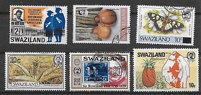 SWAZILAND , SOUTH AFRICA , LOT OF 6 STAMPS , PERF , USED