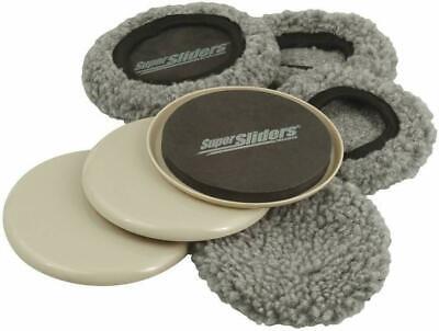 "Waxman 5"" Reusable Furniture Moving Super Sliders W/ Socks carpet hardwood floor"
