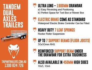 10X5 10x6 Tandem Trailers Fully Welded Hot Dip Gal Electric Brake Coopers Plains Brisbane South West Preview