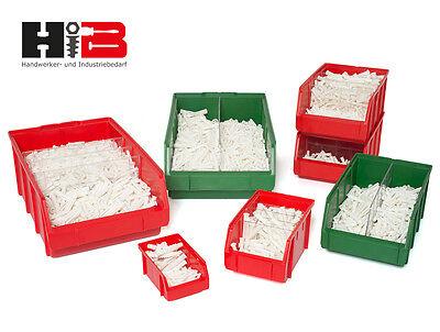 Trennwände lang/quer für Lagerboxen Stapelboxen in Größe 2 bis 5 Made in Germany