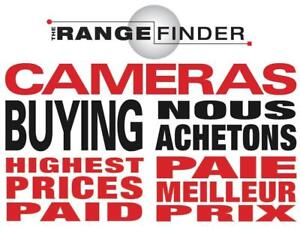 We buy/Nous Achetons Cameras et Objectifs (Sell/Vendez  Cameras/Lenses) Nikon, Leica, Sony, Fuji, Hasselblad ++