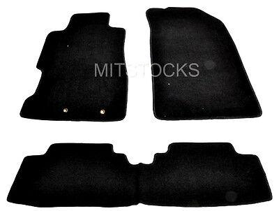 FIT FOR 2001-2005 HONDA CIVIC 2 / 4 DOOR & Si HATCHBACK BLACK CARPET FLOOR MATS
