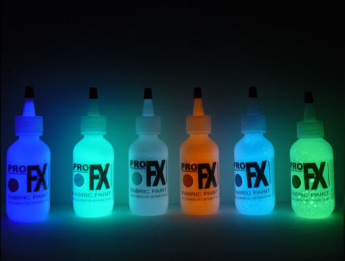 GLOW in the DARK FABRIC PAINT TEE SHIRTS WRITING HATS CANVAS  BLOW OUT SALE