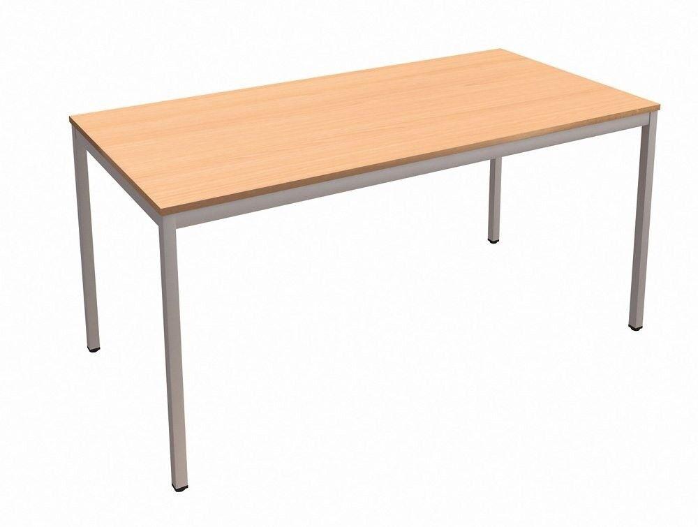 Bargain Price Beech H Leg Office Desk No Panels Drawers 122w X 61d