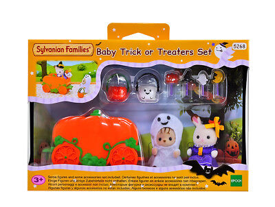 Sylvanian Families Calico Critters Halloween Baby Trick Or Treaters Set - Sylvanian Halloween