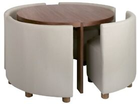 Rotunda dining room table with 4 chairs