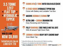 12X7 Flat Top + Hydraulic Tipper Trailer  4Tonne Ram 3500KG ATM Coopers Plains Brisbane South West Preview