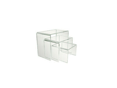 3 Pcs Clear Acrylic Display Risersjewelry Display Risershelf Showcase Fixtures