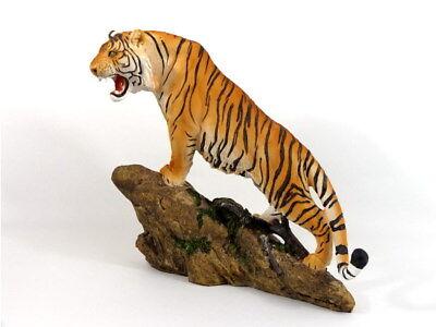 Tiger Katze Tigerfigur Felsen Skulptur Deko Tier Figur Statue abstrakt Löwe Fels