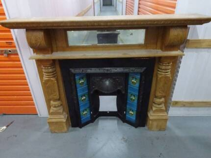 Antique Victorian Fireplace (Mantle and Insert)