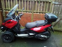 Gillera Fuoco 500 registered as trike (Can ride on car licence)
