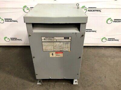 Used Dry Type Transformer 15 Kva 480 Delta 240 Delta Center Lighting Tap 120 V