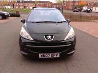 PEUGEOT 207 WITH 38K GENUINE VOSA VERIFIED MILEAGE, PANAROMIC SUNROOF & EXCELLENT CONDITION