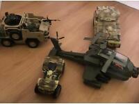 Boys toys army toys has figures with them