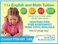 ENGLISH, MATHS AND 11 PLUS TUITION