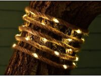 Soft Sea 3m Rope Effect Solar String Lights - Warm White