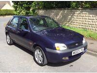 Ford Fiesta 1.2 Petrol 2002 5 Door Blue - Failed MOT due to rust.