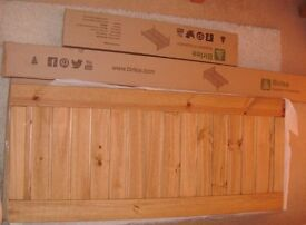 DOUBLE BED FRAME 4'6 WAXED PINE *BRAND NEW*