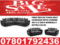 LARGE DFS SHANNON CORNER/3+2 SOFA REFLEX FOAM SEAT CUSHIONS 3