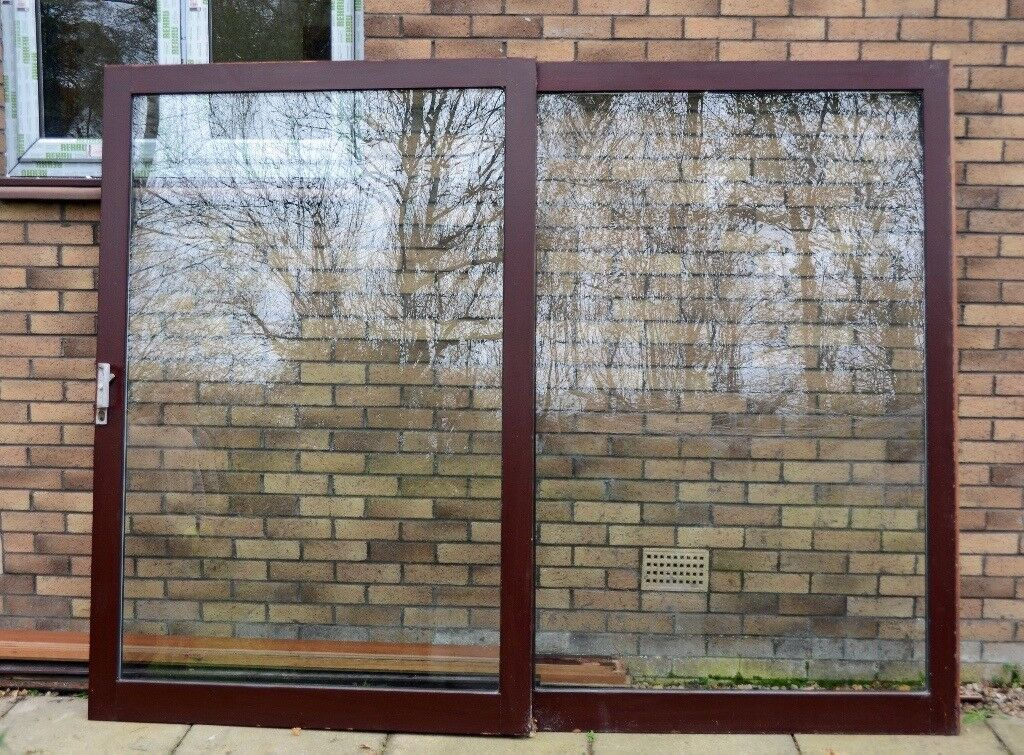 Hardwood double glazed patio doors