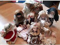 Porcelain Dolls x 10