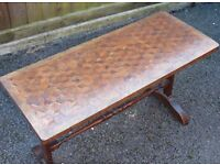 inlaid victorian parquetry coffee table
