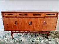 Teak and Afromosia Fresco Sideboard by Victor Wilkins for G-Plan, Vintage Design 1960s