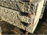 🍁 CONCRETE ROCK FACE FENCING BASE PANELS/ GRAVEL BOARDS > NEW