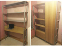 Ikea Journalist workstation/shelving and bookcase/cupboard for sale