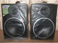 Never Used ! Mackie MR8 MK3 , Full-Range Reference Active Powered DJ Studio Monitors , Speakers