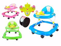 Brand NEW Baby kids Walker 3 Adjustable Height and Musical Activity Play Tray, Walkers
