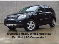 Mercedes ML 350 Auto with Brand new warranted and certified LPG conversion