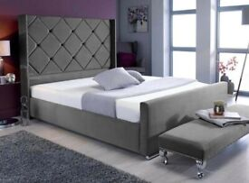 🔴🔵 DONOT MISS THE CHANCE BEAUTIFUL BED IN MALIA SILVER DOUBLE FRAME WITH MATTRESS 290 GBP