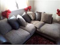 Corner Sofa & Storage Pouffe