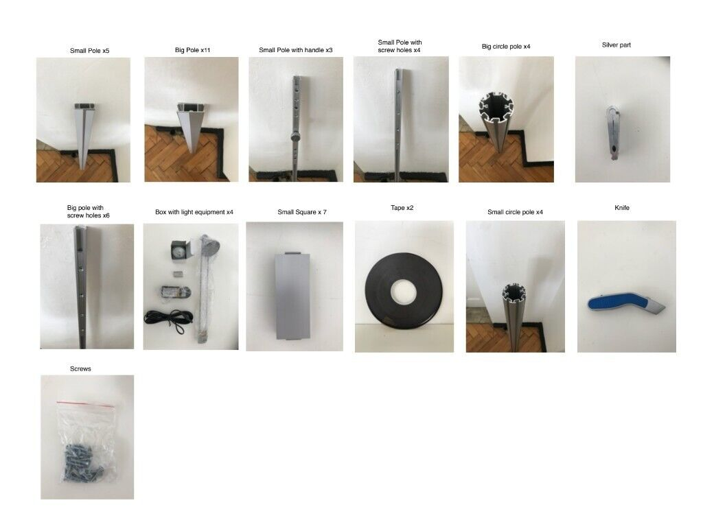 Exhibition Stand Parts : Spare parts old exhibition stand no screens included in